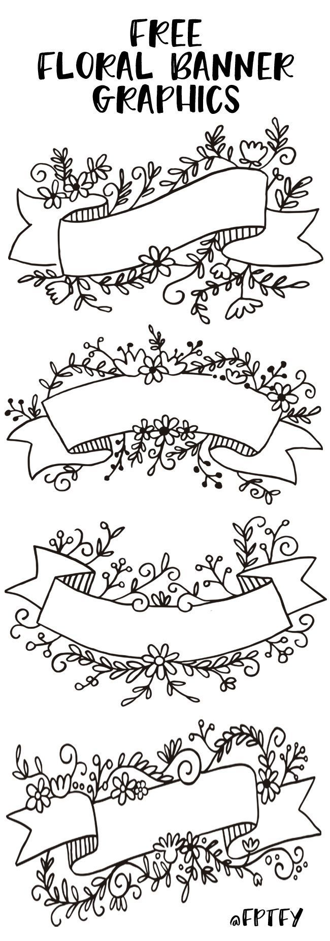 Free Floral Banner Graphics- Set of 4-CU ok