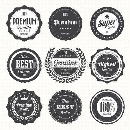 conjunto de emblemas vintage retrô e rótulos — Ilustração de Stock #22157891