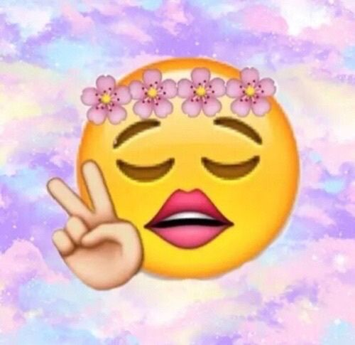 how to use flower emoji on facebook