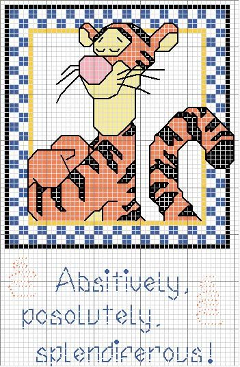 Disney, Tigger cross-stitch