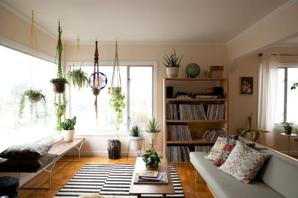 Hanging plants. So open and bright and airy!