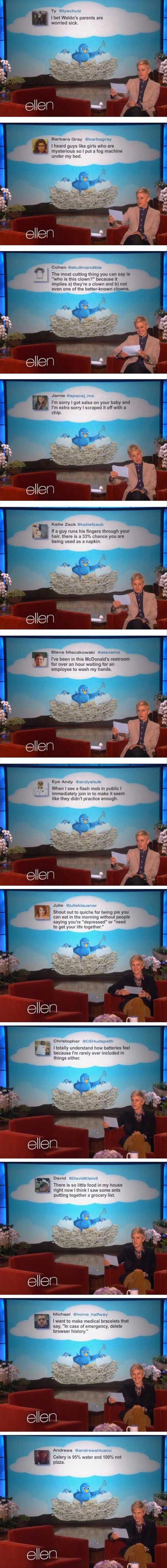 Ellens Favorite Funny Twitter Quotes Of The Week  12 Pics