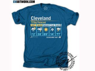 Cleveland company creates T-shirt tribute to wild Ohio weather