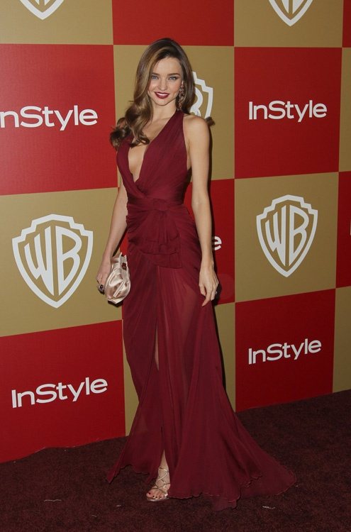 Miranda Kerr in Zuhair Murad at the 2013 InStyle post Golden Globe Awards party