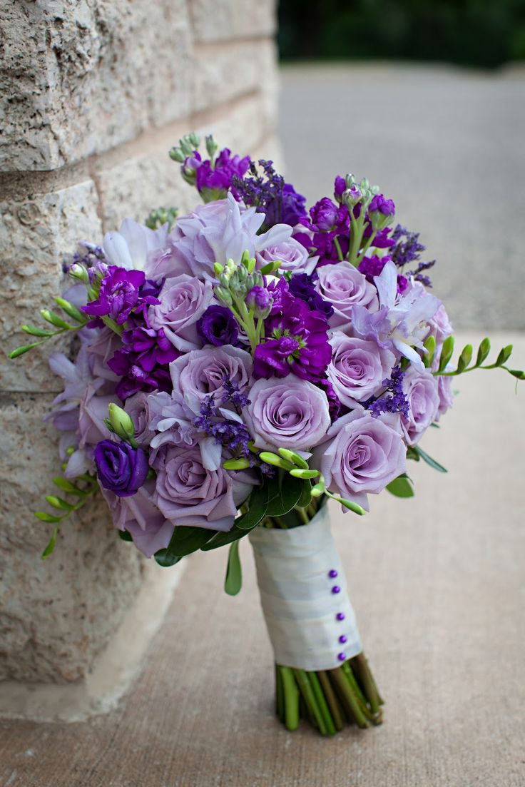 613 best purple bouquets images on pinterest bridal bouquets kmb floral may purple wedding lisianthus freesia izmirmasajfo Images
