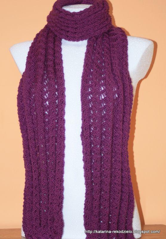Szydełkowy szal na kolorową jesień  #crochetshawl, #crochet, #szal, #szydełkowy