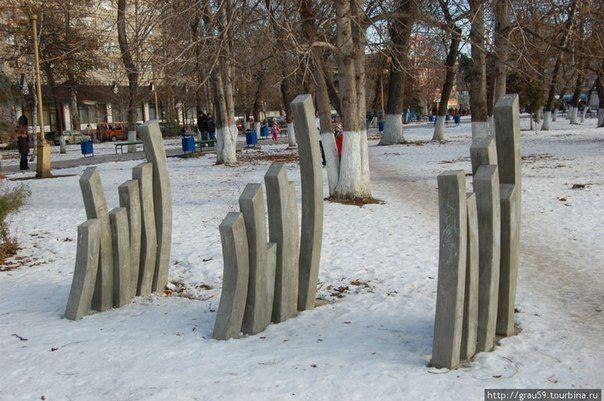 Картошка фри, Саратов. Монумент против насилия в семье