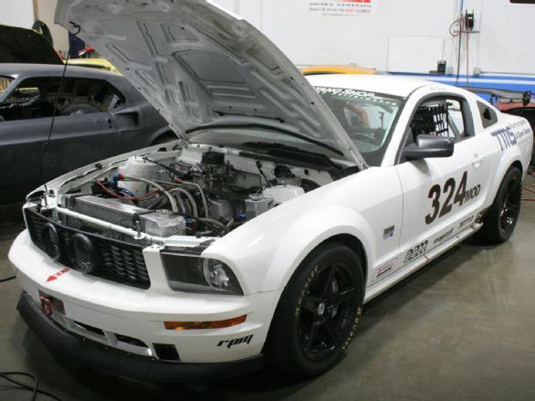 This 2008 Ford Mustang GT owned by Marc Sorger, general manager of The Mustang Shop, features a NASCAR-powered heart stuffed inside the S-197 engine bay.