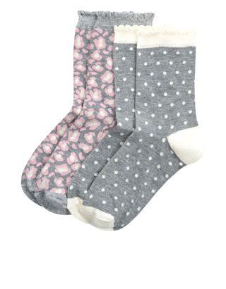 2 x Animal Print Socks