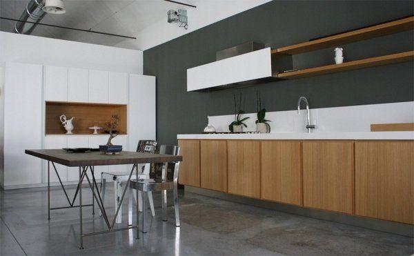 Stunning Hochglanz K che in Wei einbauger te schiebet ren stauraum white interiors Pinterest Interiors