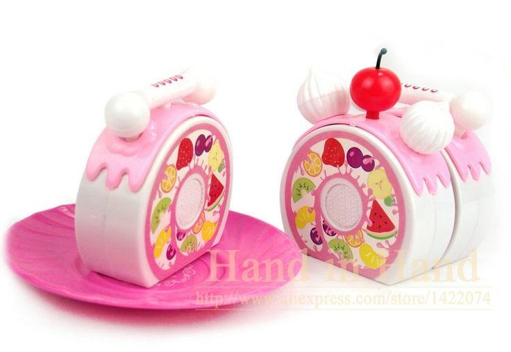 Дети Притворяться, Играть В Игрушки Розовый Торт Ко Дню Рождения Свечи Блюдо Набор Детские Игрушки Brinquedos Смешно Резки Торт Играть В Игрушки купить на AliExpress