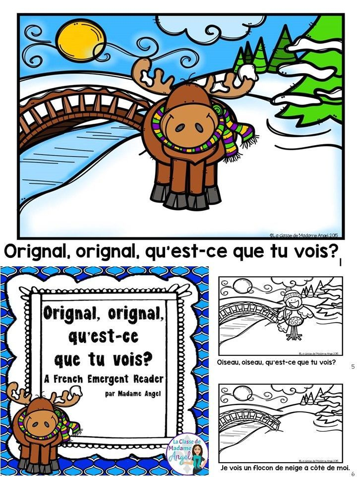 C'est l'hiver!  Practice winter vocabulary in French with this fun Emergent Reader.