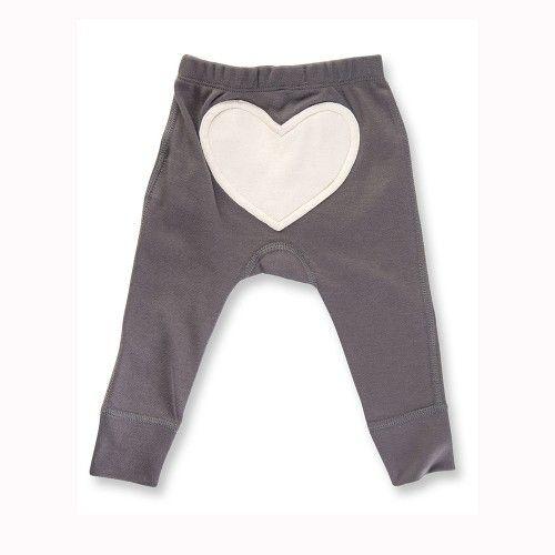 Charcoal Love Heart Pants