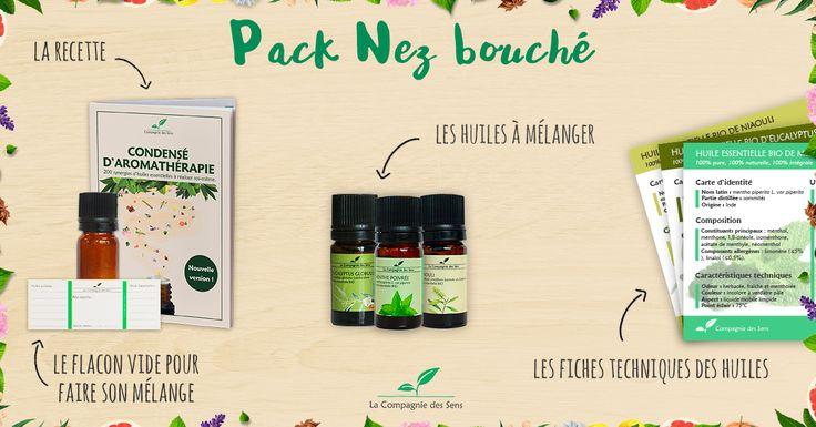 NEZ BOUCHE - Grâce à leurs propriétés décongestionnantes et mucolytiques, certaines huiles essentielles permettent de déboucher le nez naturellement. #huilesessentielles #nezbouché #remède