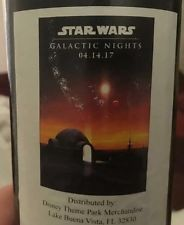Star Wars Galactic Nights 2017 24x36 Exclusive Poster Celebration Orlando RARE