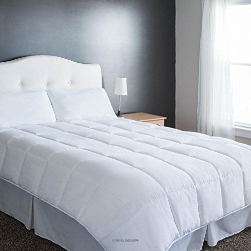 Down Alternative Comforter Goose King Size Bedding White Quilted Corner Duvet #LinenSpa