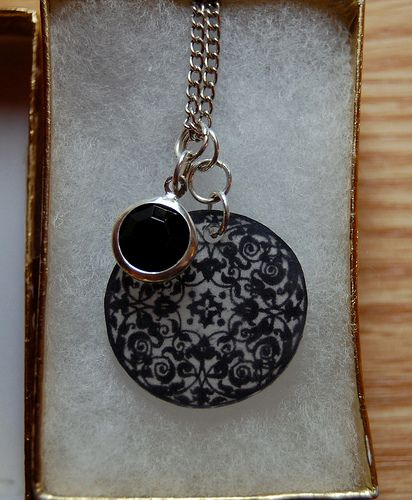 Shrinky Dink Necklace by AmbjerKnits, via Flickr