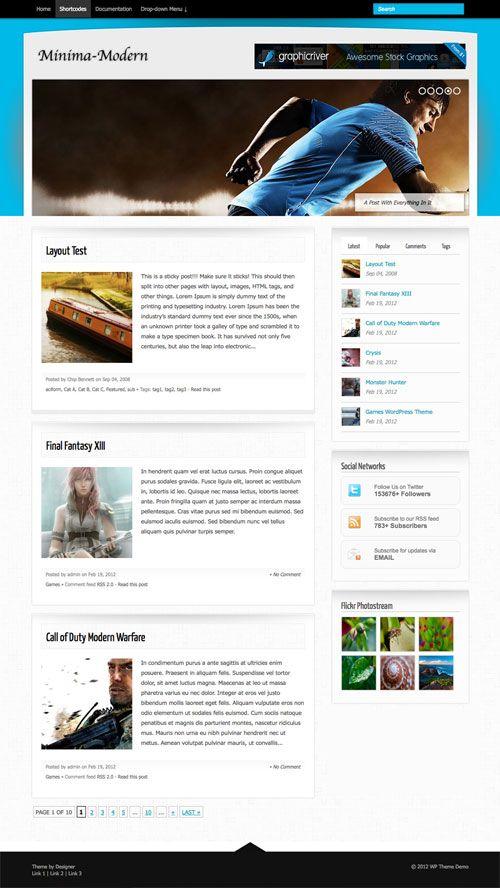 Minima-Modern WordPress Theme | TemplatePanic.com