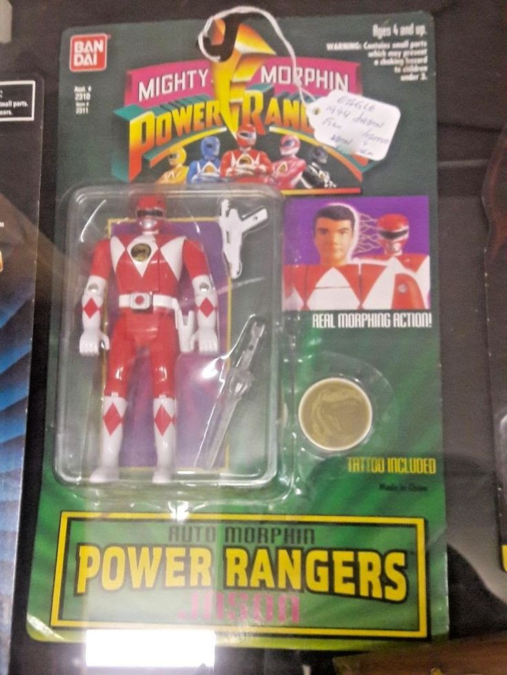 Vintage 1994 Mighty Morphin Power Rangers JASON Action Figures w/ Tattoo #Bandai