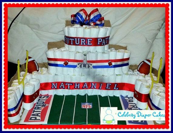 Diaper Cake Football Stadium by CelebrityDiaperCakes on Etsy