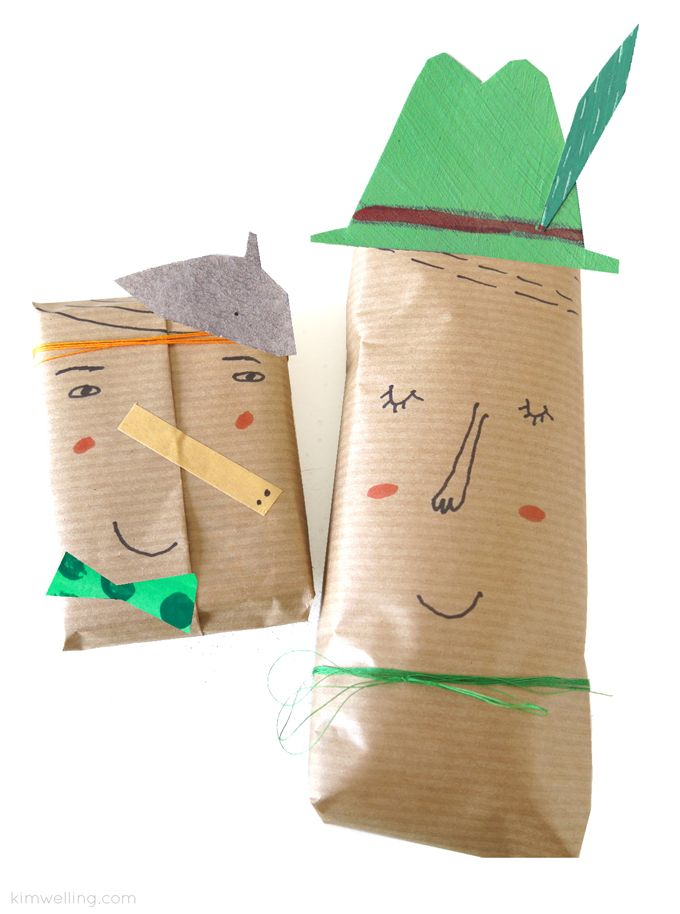 Wrapping with faces by @kimwelling  #Hetpapieratelier