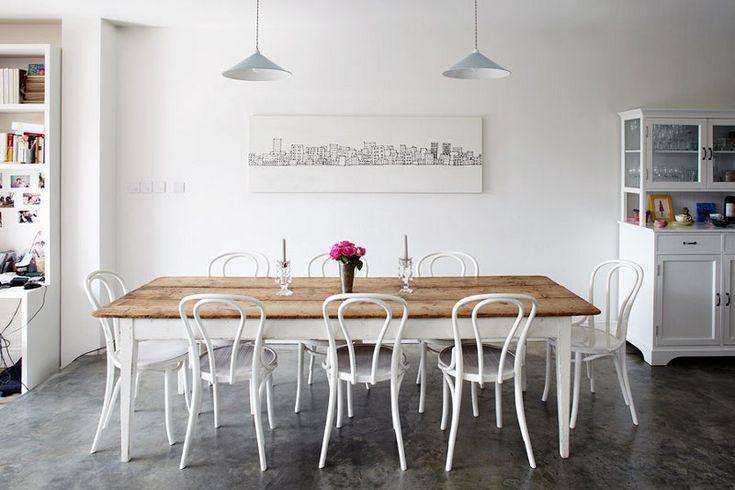 desire to inspire - desiretoinspire.net - Heather Hobhouse White thonet bentwood chairs