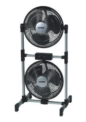 [=]GET Optimus F-8501 12 Inch Twin Head 3-Speed Universal Fan, Black Review Online | Heater Style