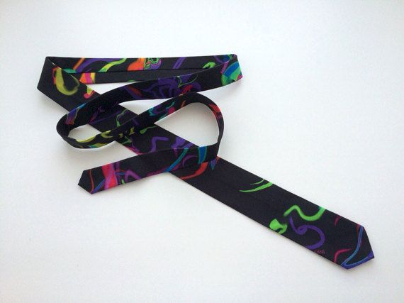 Color splash Versace necktie. Stylish tie. Colorful tie. Gift necktie. Special occasion tie.