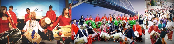 The Dhol Blasters are a team of young vibrant male and female Dhol players, performing at stage shows, festivals, melas, processions, weddings and all sorts of events all over the country and abroad.