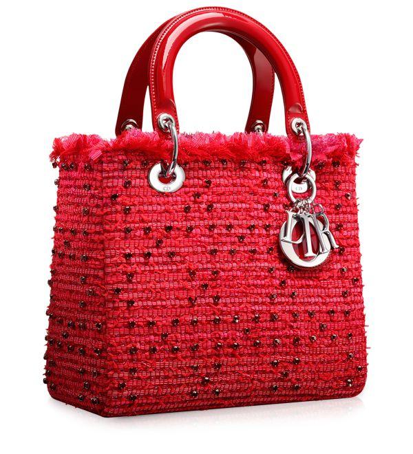 LADY DIOR - Multi-coloured 'Lady Dior' mini bag
