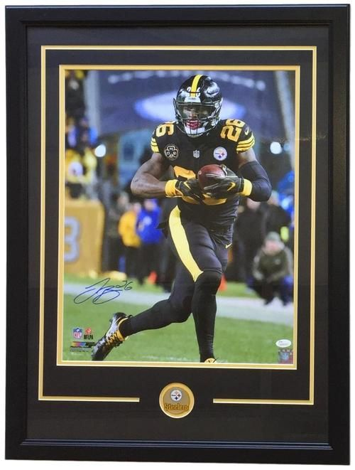 Le Veon Bell Signed Framed 16x20 Pittsburgh Steelers Color Rush Jersey  Photo JSA f76e81b38