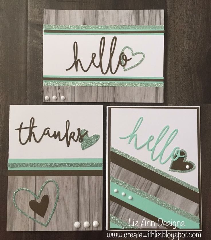 Thin cut sentiment cards by Liz Mullins Johnson. CTMH Rustic Fundamentals and…