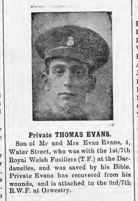 Evan, Thomas, Pte 1.7 RWF WIA but saved by his bible. now with 3.7 RWF.