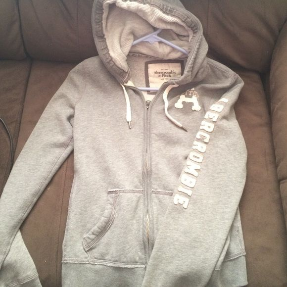 Abercrombie and Fitch hoodie Grey Abercrombie and Fitch zip up hoodie size medium Abercrombie & Fitch Jackets & Coats
