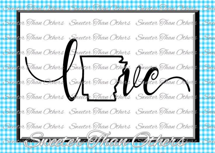 Arkansas Svg Arkansas outline Love SVG Arkansas DXF pattern, Arkansas cut, T shirt Design Vinyl  Silhouette, Cameo, Cricut, Instant Download by SweeterThanOthers on Etsy
