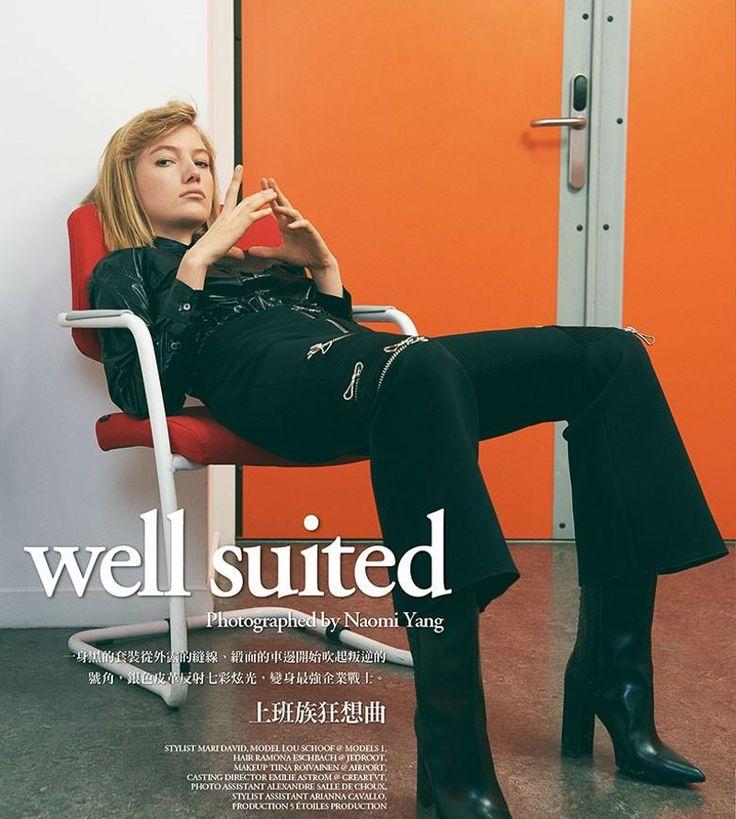 Vogue Taiwan January 2017 Lou Schoof by Naomi Yang