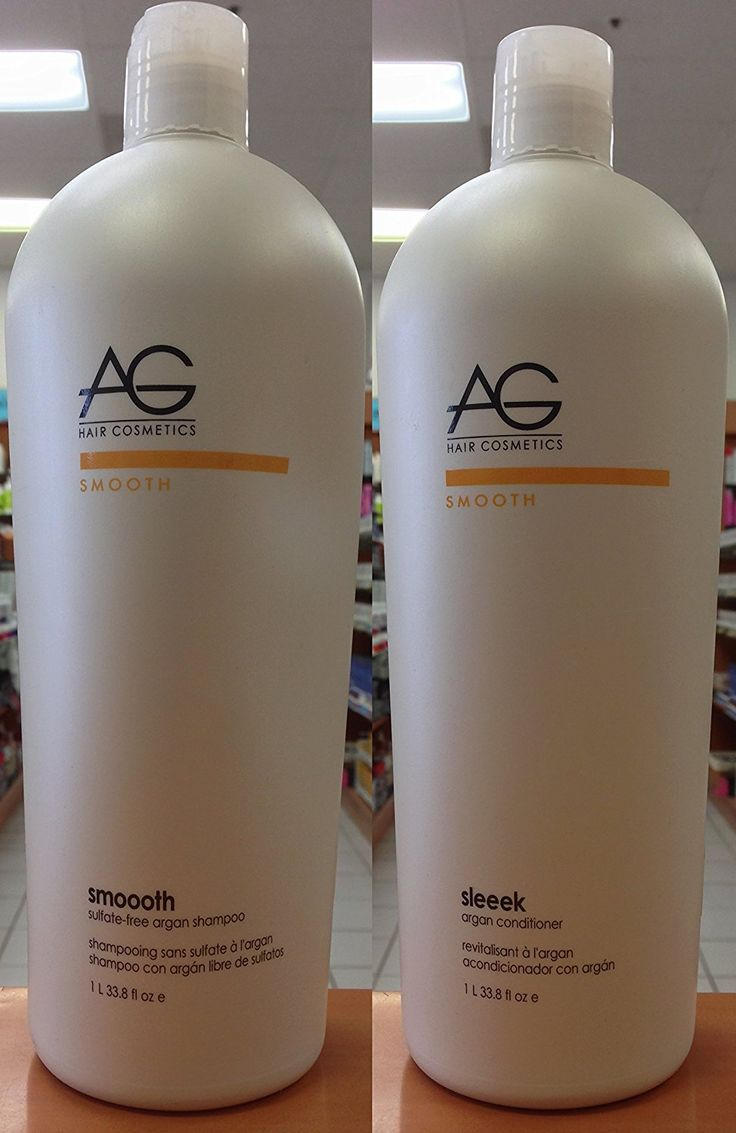 AG Smooth Smoooth and Sleeek argan Shampoo and Conditioner, 2x 1 L / 2x 33.8 fl oz * Details can be found by clicking on the image.