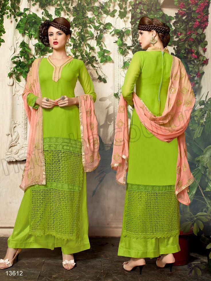 #Designer Stright Suits#Pakistani Suit#Indian Wear#Green #Desi Fashion #Natasha Couture#Indian Ethnic Wear# Salwar Kameez#Indian Suit#Pakastani Suits# Palazoo