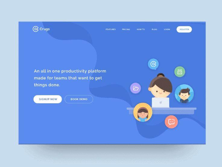 Crugo Landing Page by Ghani Pradita