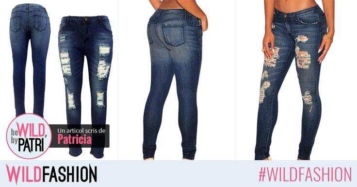 Purtati in continuare jeansii destroyed, dar cu taieturi mai mici, ca sa rezistam temperaturilor in scadere. Iata propunerea mea:
