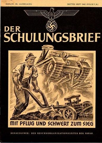 Der Sculungsbrief. Publicación mensual de orientación política. Su intención era educar basándose en la ideología y filosofía Nacionalsocialista.