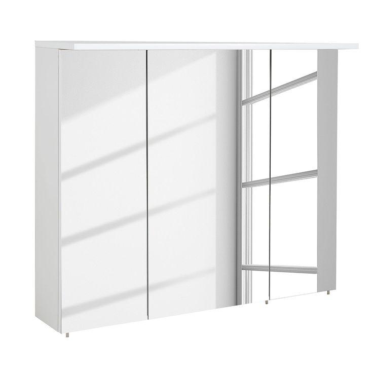 EEK A+, Spiegelschrank Genf I   Hochglanz Weiß   90 Cm, Schildmeyer Jetzt  Bestellen