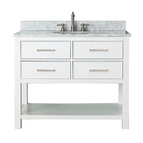 Brooks White 42 Inch Vanity Only Avanity Vanities Bathroom Vanities Bathroom Furniture