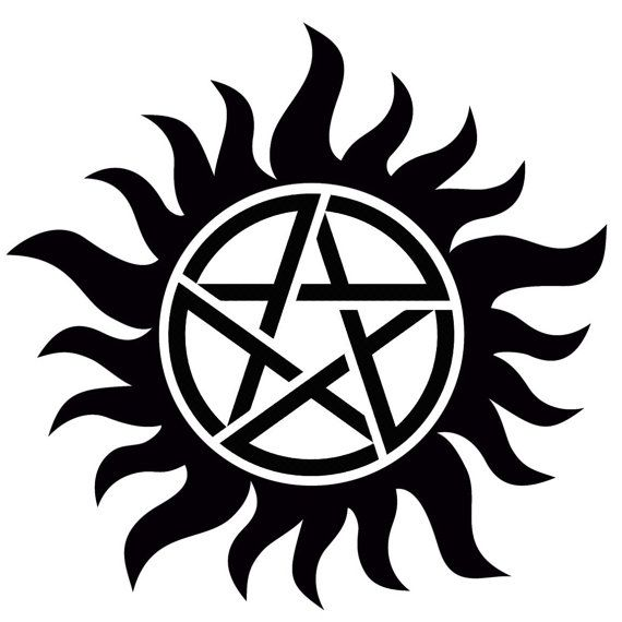 Supernatural anti-possession symbol decal by GlamGlitters on Etsy                                                                                                                                                                                 More