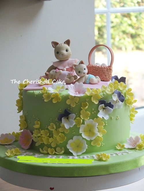Sylvanian Family Themed Birthday Cake  https://www.facebook.com/thecherishedcake/posts/1592294550991318
