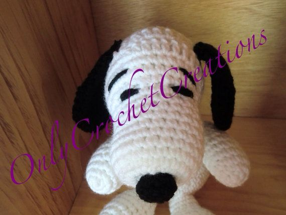 Snoopy stuffed animal Crocheted made to by OnlyCrochetCreations, $15.00