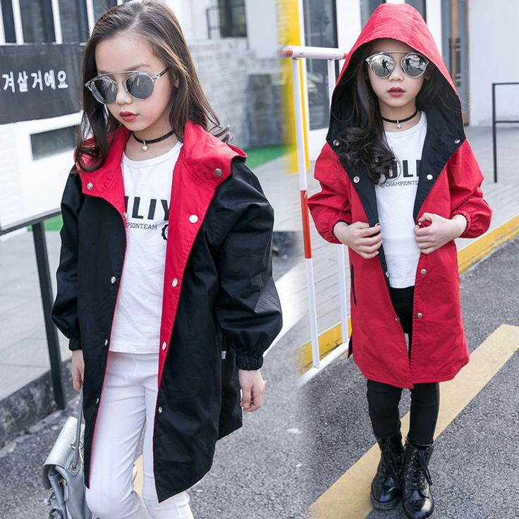 2017 New Spring Girls Jackets Kids Hooded Outerwear Jackets for Girls Fashion Double Wear Girls Clothing Baby Bomber Jackets #Affiliate
