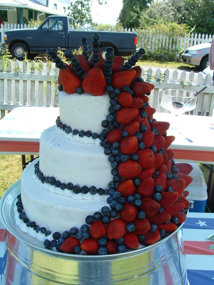 Fourth Of July Wedding Cake