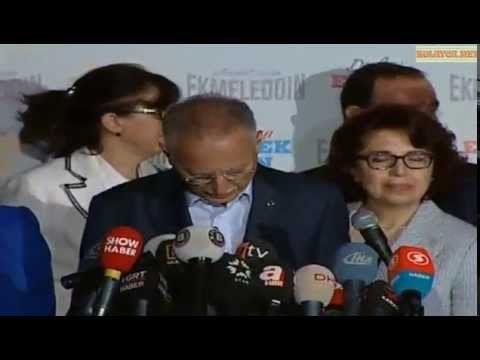 Ekmeleddin İhsanoğlu seçim sonrası konuşması 10 ağustos 2014