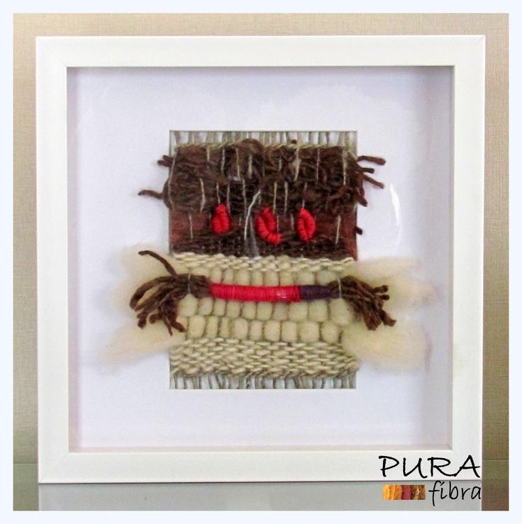 Telar decorativo formato 30x30.- 100% lana natural.